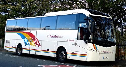 2 HXA 'The Travellers Choice', Carnforth. Volvo B12B / Jonckheere SHV on 'Dennis Basfords railsroadsrunways.blogspot.co.uk