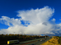 Storm About To Cross The A1M (Gary Chatterton 5 million Views) Tags: storm stormclouds clouds badweather motorway nature rain water flickrnature flickr explore canonpowershot photography a1m fairburn northyorkshire