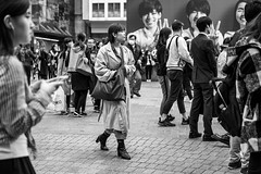 Eye Spy (burnt dirt) Tags: asian japan tokyo shibuya station streetphotography documentary candid portrait fujifilm xt1 bw blackandwhite laugh smile cute sexy latina young girl woman japanese korean thai dress skirt shorts jeans jacket leather pants boots heels stilettos bra stockings tights yogapants leggings couple lovers friends longhair shorthair ponytail cellphone glasses sunglasses blonde brunette redhead tattoo model train bus busstation metro city town downtown sidewalk pretty beautiful selfie fashion pregnant sweater people person costume cosplay boobs