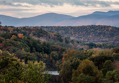 First Light (Roy Manchester) Tags: catskill newyork unitedstates us canon 5dsr ef70200f28isiiusm 7020028lisii ef availablelight clouds colors fall mountains manfrotto geotag gps creek fallcolors