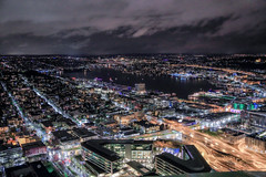 IMG_4323_Seattle (Alex Hsieh (椰子人)) Tags: ç´è² seattle skyline 2016 fall thanksgiving washingtonstate city canon night landscape canon6d 6d usa roadtrip wa