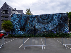 The Iris (Steve Taylor (Photography)) Tags: iris eye ymca art graffiti mural streetart newzealand nz southisland canterbury christchurch city pattern cloud