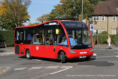 IMG_6781-290918 (andrewcolebourne) Tags: london londonbus transportforlondon metroline optare solo cricklewoodgarage w cw hampsteadgardensuburb meadway hampsteadway routeh3 os2500 yj68fxb