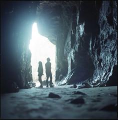 mine (steve-jack) Tags: hasselblad 501cm 80mm cb fuji reala 100 film 120 6x6 cornwall cave mine perranporth tetenal c41 kit epson v500