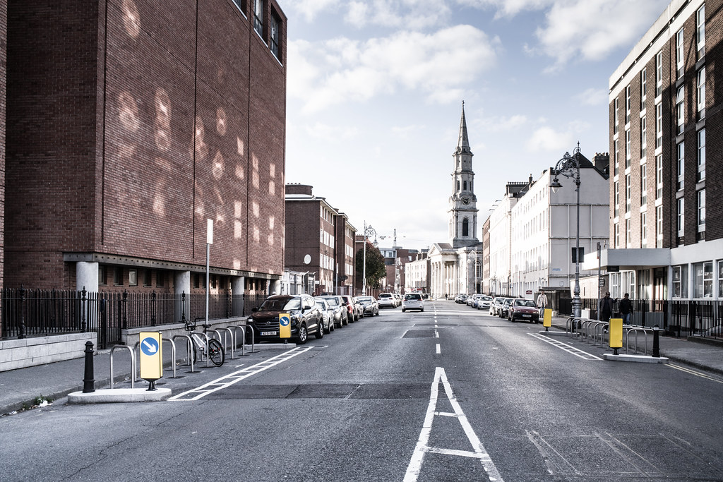 INTERSECTION OF TEMPLE STREET, GREAT DENMARK STREET, GARDINER PLACE AND HILL STREET [LOOKING DOWN TEMPLE STREET]-144986