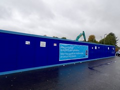 Demolition, Woodside Road, Cwmbran 6 October 2018 (Cold War Warrior) Tags: aldi demolition cwmbran