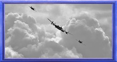 Tally Ho Boys ! Time To Make For Home (MedievalRocker) Tags: bbmf lancaster spitfire