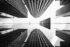 Half the Time Has Passed Away (Thomas Hawk) Tags: america manhattan moma museum museumofmodernart nyc newyork newyorkcity usa unitedstates unitedstatesofamerica architecture bw reflection us fav10 fav25 fav50 fav100