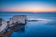 Summer Sunrise (Anthony White) Tags: swanage england unitedkingdom gb old harry jurasiccoast sunrise blue rocks firecrest stop nd ultra 6