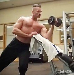 preacher curl (ddman_70) Tags: shirtless pecs abs muscle gym workout biceps