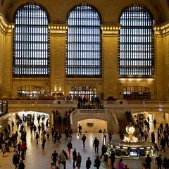 Main Concourse, Grand Central Terminal, Midtown Manhattan, NY (AperturePaul) Tags: newyork newyorkcity unitedstates america manhattan nikon d600 square squareformat grandcentralstation grandcentralterminal mainconcourse