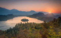 Lake Bled sunrise (Aljaž Vidmar | ADesign Studio) Tags: autumn sunrise calm church nature water lake morning slovenia ojstrica forest naturescape island alps slovenija landscape gorenjska bled bledmunicipality si