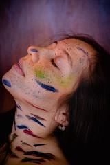 Pintura (oscar pinto fotografía) Tags: pintura color sesion retrato portrait mujer belleza tranquilidad tranquility emocion luz women woman retratos eyes ojos identidad pretty sensualidad juventud bokeh light love