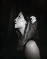 Flower (MoonCCat) Tags: petzvallens sulfitededesodium monochrome belleepoque frenchmodel analogfilm vintage kodakektar polaroid55 speedgraphic