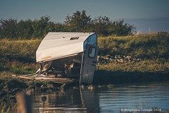 The morning after the night before (frattonparker) Tags: btonner lightroom6 nikond810 raw tamron28300mm frattonparker swale estuary caravan seawall derelict deserted abandoned wrecked mullered kent