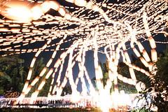 The Front Line (Matt Molloy) Tags: mattmolloy timelapse photography timestack photostack movement motion yipeng loikrathong festival celebration flying lanterns fire light glow orange yellow people crowd bamboo trees vegetation night sky stars thudonglannainstitute chiangmai northern thailand landscape fun lovelife