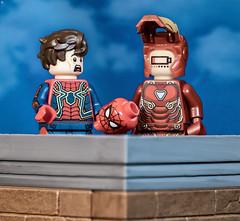 Iron Man Low Battery (Jezbags) Tags: ironman low battery spiderman tomholland tony stark peterparker marvel marvelstudios lego legos toy toys shocked macro macrophotography macrodreams macrolego canon canon80d 80d 100mm