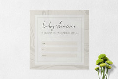 Baby Shower Invitations (AIM Designs) Tags: baby shower boy girl party celebrate marble paper print designer modern contemporary script mum dad luxury premium