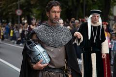 Alba Medieval Parade - A knight (Gabi Breitenbach) Tags: medievalparade knight alba palio degli asini piemont tradition