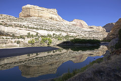 A Reflection on the Yampa (Jeff Mitton) Tags: yampariver canyon cliffs sandstone colorado dinosaurnationalmonument river refletion earthnaturelife wondersofnature landscape wilderness echopark