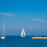 Sailboats near pier in Zadar, Croatia thumbnail