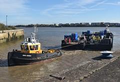 SWS Essex + SWS Breda + WF Pontoon (14) @ KGV Lock 18-10-18 (AJBC_1) Tags: london tug ©ajc dlrblog england unitedkingdom uk ship boat vessel northwoolwich eastlondon newham nikond3200 tugboat londonboroughofnewham royaldocks kgvlock kinggeorgevlock londonsroyaldocks docklands marineengineering swalshsonsltd swsbreda swsessex walsh blackfriarspier tflriver ajbc1 woolwichferrydockingpontoon ravesteinbv kgvdock riverthames gallionsreach kinggeorgevdock nikond5300 woolwichferryberthingpontoon intelligentdocklockingsystem idl automatedmagneticmooringsystem mampaeyoffshoreindustries