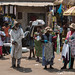 Fulani man and Kumasi street vendors