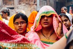 Women Walking in Baldeo Uttar Pradesh (AdamCohn) Tags: 013kmtobaldevinuttarpradeshindia adamcohn baldeo baldev india uttarpradesh geo:lat=27407958 geo:lon=77822292 geotagged holi saree sari saris women wwwadamcohncom