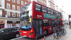 P1140189 VMH2447 LK18 AGX at Baker Street Station Baker Street Marylebone London (LJ61 GXN (was LK60 HPJ)) Tags: metroline volvob5lhybrid mcv mcvevoseti evoseti 105m 10490mm vmh2447 lk18agx nb898