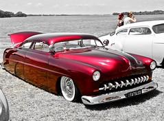 Fat Sled (*SIN CITY*) Tags: custom custompaint red vehicle transport transportation car carshow americancarsinaustralia america v8 2door lowered bagged hudson mercury 1949 1952