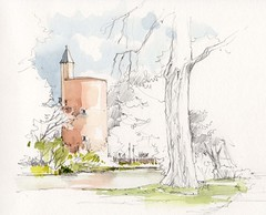 Brugge, Poertorenpark, België (Linda Vanysacker - Van den Mooter) Tags: brugge poertorenpark belgië belgique belgium vlaanderen flandre flanders westvlaanderen 2018 watercolor watercolour visiblytalented vanysacker vandenmooter tekening sketch schets potlood pencil lindavanysackervandenmooter lindavandenmooter drawing dessin croquis crayon art aquarelle aquarell aquarel akvarell acuarela acquerello