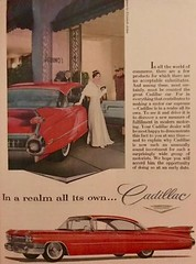 She's in a Realm all Her Own (saltycotton) Tags: automobile car luxury cadillac generalmotors gm readersdigest vintage magazine advertisement ad 1964 1960s