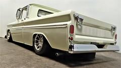 1965 Chevrolet Fleetside Pick Up Truck. (ManOfYorkshire) Tags: 1965 chevrolet fleetside pickup truck car auto 118 scale diecast model sunstar modified custom lowered detailed rims alloys chevy