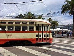 Streetcar No. 1079 (waltarrrrr) Tags: sanfrancisco july 2018 streetcar trolley pcccar fline