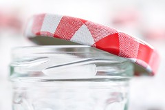 Perfect Match (haberlea) Tags: home jar lid jam glass kitchen macromondays perfectmatch red white