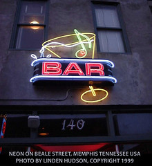 NEON ON BEALE STREET, MEMPHIS (lindenhud1) Tags: bealestreet memphis tennessee usa america bar barsign color partystreet localcolor south thesouth southern downsouth
