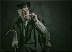 A visit to the Headmaster's study (Stu115) Tags: school portrait teacher head solo cane blackboard