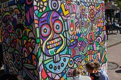 MonkeyBot (derekbruff) Tags: artprize grandrapids art coloring kids monkey