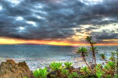 Hint of a sunset (Peter Szasz) Tags: maui hawaii hdr wailea poolenalena water ocean sea summer sky sun sunset stones scenery beach blue orange outside tropical pacific peaceful flora flowers landscape nature clouds colourful