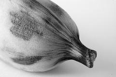B-Food (juliaturnau) Tags: textures details locallygrown organic blackandwhite macrophotography small banana bfood macromondays