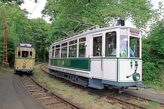 Tourist Tram in Wuppertal / Tramway touristique à Wuppertal (CHABOT Christophe) Tags: bergischemuseumsbahnen wuppertal kohlfurth gebrschöndorff bmb tram tramway strasenbahn