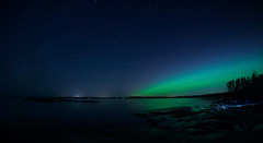 Northern lights above Finland's south coast (JukkaRz) Tags: auroras northernlights sky seascape sea waterscape water coast shoreline suomi finland canon samyang fisheye 8mm