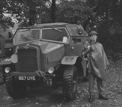 Me standing next to a Quad, morris commercial field artillery tractor (andrew_davison27) Tags: pickering goathland grosmont levisham wartime weekend nymer north yorkshire moors railway 1940s 40s british soldier ww2 nymr