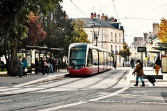 Downtown Dijon (stephaneblaisphoto) Tags: architecture building exterior built structure cable car city day electricity incidental people land vehicle mode transportation nature outdoors public rail railroad track real train travel women