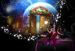 Do you believe? (Pippa Valentino (Pippa Rosca)) Tags: secondlife magic zk cnz besom belleza catwa access ebento thedarkstyle