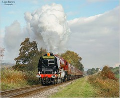"""The Autumnal Irwell Duchess"" 6233 Princess Coronation 'Duchess of Sutherland' (Liam60009) Tags: a7rii sony sonya7rii royalscot eastlancashirerailway elr irwellvale irwell crimson steamlocomotive steam autumn duchessofsutherland 6233"