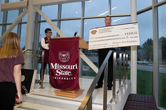 Homecoming Kickoff Party 2018 (Missouri State Alumni Association MarooNation) Tags: 20181019 20802 bigcheck homecoming2018 msuemergencyscholarshipfund raypresnell