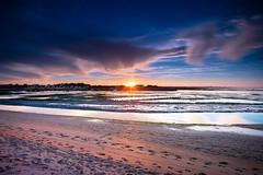 """""""Soleil automnal"""" (Artpictureslc) Tags: soleil automne plage beach blue bleu jaune orange yellow pasyages landscapes sunset magique sony a7rii canon sigma 1635mm f28 l ii mc11 nisi pose longue"""