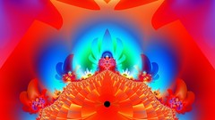 JLF1417 Throne Room (jlfractal) Tags: grafzvizion fractal fractalart julofi red blue orange geometry