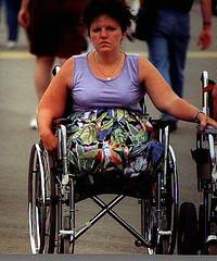Legless at the Fair 01 (jackcast2015) Tags: disabledwoman disabled disabledlady wheelchair wheelchairwoman crippledwoman crippledlady amputee amputeewoman dak a nolegs
